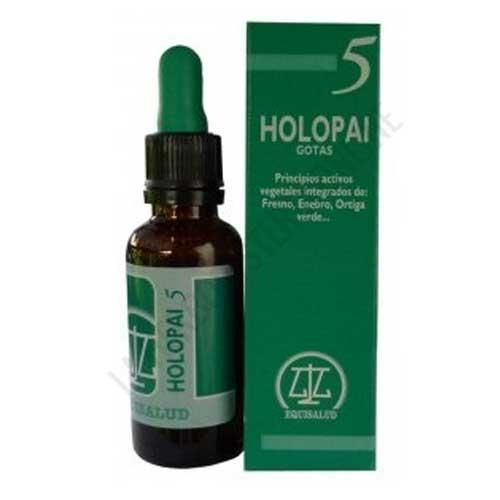 Holopai 5 Afecciones Reumáticas Equisalud 31 ml. - Holopai 5 de Equisalud es una composición a base de plantas especialmente útiles para ayudar a la mejora de las afecciones reumáticas, ciáticas y lumbagos.