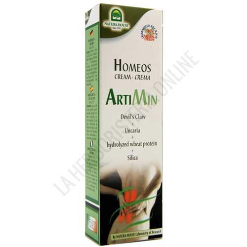 Homeos Crema Artimin Natura House 75 ml. - Artimín es una crema calmante a base de Harpagofito y Uña de Gato, especialmente indicada para ayudar a aliviar el dolor e inflamación lumbar y de las articulaciones.