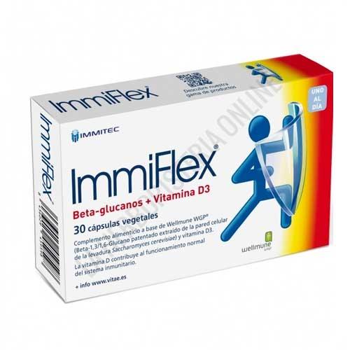 Immiflex betaglucanos + vit. D3 Vitae 30 cápsulas -