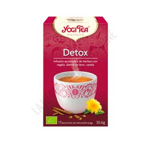 Infusión Detox Yogi Tea 17 bolsitas - El té Purifica de Yogi Tea contiene una combinación de hierbas y especias que se han utilizado durante siglos en la Índia para favorecer el proceso de limpieza interna mediante el ajuste de las energías del fuego y del aire.
