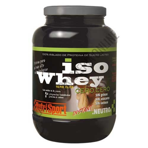 Iso Whey cero cero Nutrisport sabor neutro 1000 gr. - Iso Whey Cero Cero de Nutrisport es asilado de proteína de suero lácteo de última generación y del más alto valor biológico sin grasas, sin azúcares y sin lactosa.