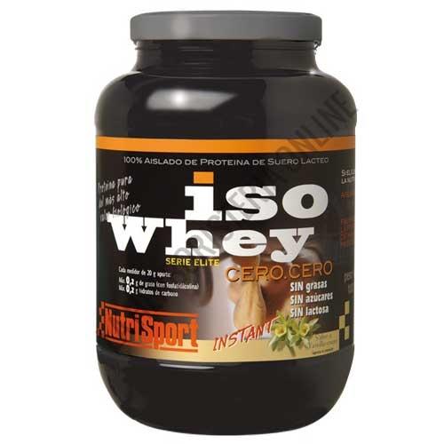 Iso Whey cero cero Nutrisport aislado de suero lácteo sabor vainilla 1000 gr. - Iso Whey Cero Cero de Nutrisport es asilado de proteína de suero lácteo de última generación y del más alto valor biológico sin grasas, sin azúcares y sin lactosa.