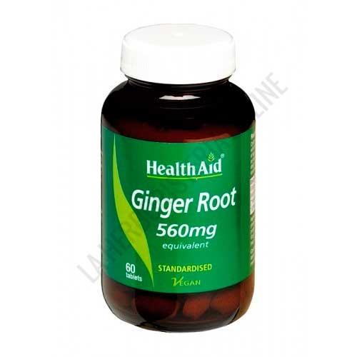 Jengibre raíz estandarizado Health Aid 60 comprimidos
