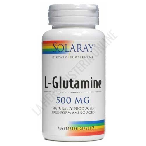L-Glutamina en forma libre 500 mg. Solaray 50 cápsulas vegetales