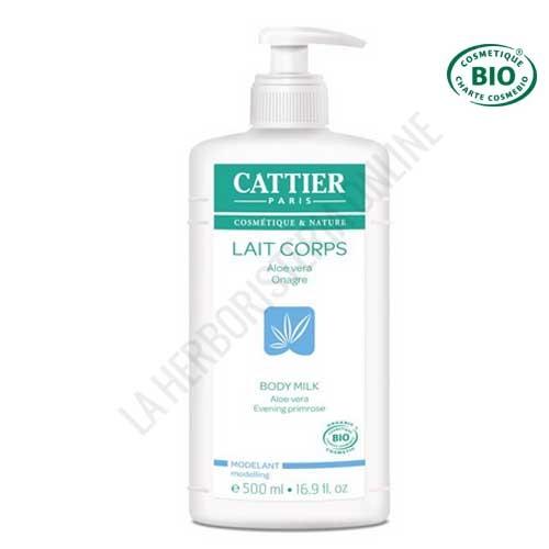 Leche hidratante modeladora reafirmante Cattier 500 ml. -