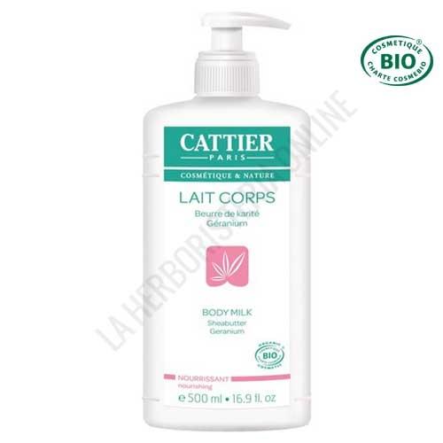 Leche hidratante nutritiva karité y geranio Cattier 500 ml. -