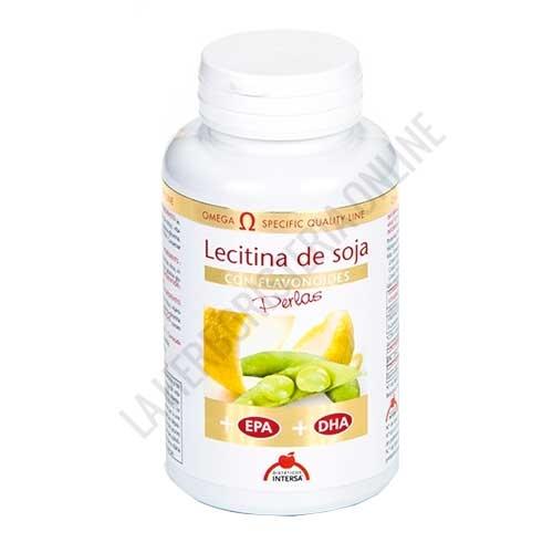 Lecitina de Soja con Flavonoides, EPA y DHA Intersa 90 perlas - La Lecitina de Soja en perlas de Intersa es una fórmula completa que contiene además bioflavonoides cítricos, vitamina E y Aceite de pesacado rico en EPA y DHA.