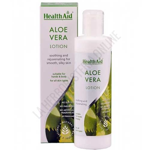 Loción Aloe Vera cuerpo y manos Healh Aid 250 ml.