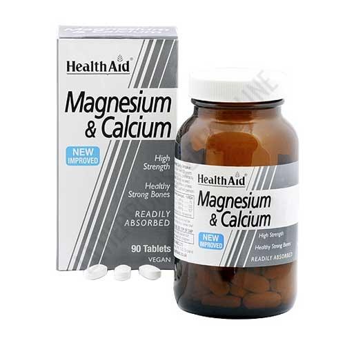 Magnesio + Calcio Health Aid 90 comprimidos - Magnesium Calcium de Health Aid ayuda a mantener unos huesos fuertes y saludables gracias a la combinación de Calcio, Magnesio y Vitamina C en comprimidos de fácil absorción.