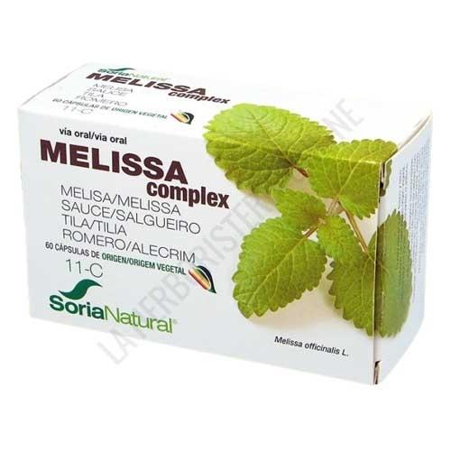 Melissa Complex 11-C Soria Natural 60 cápsulas - Melissa Complex de Soria Natural es una formulación a base de extractos de plantas, especialmente recomendada en caso de jaquecas y dolor de cabeza.