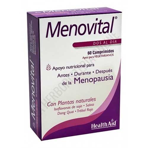Menovital Health Aid comprimidos - Menovital de Health Aid es una combinación equilibrada de plantas, vitaminas y minerales ideal para ayudar a la mujer antes, durante y después de la menopausia.