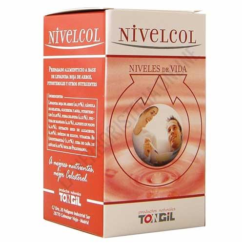 Nivelcol Tongil 60 cápsulas - Nivelcol Tongil en cápsulas (levadura roja de arroz, fitosteroles, fibra de avena, alpiste, etc.) contiene una combinación de ingredientes específicos que ayudan a mantener unos niveles saludables de colesterol.