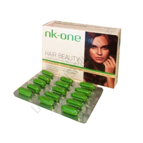 Nk One Hair Beauty Biokosm 60 cápsulas - Nk One Hair Beauty es un complemento alimenticio a base de oliegoelementos, vitaminas y aminoácidos que contribuye a la prevención de la caída del cabello y de la fragilidad de las uñas.