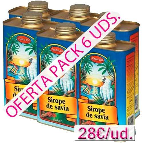 Sirope de Savia Madal Bal 1 litro pack 6 uds. - OFERTA 6 BOTELLAS de 1 LITRO SIROPE DE SAVIA MADAL BAL, aprovecha este Pack Ahorro. PRODUCTO EN STOCK INMEDIATO. ENVÍO URGENTE GRATUITO.