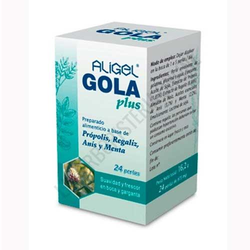 OFERTA Aligel Gola Plus Tongil 24 perlas - Aligel Gola Plus contiene ingredientes naturales a base de plantas, aceites esenciales y própolis que proporcionan alivio en boca y garganta frente a la irritación y dolor mediante prácticas perlas que se disuelven directamente en la boca.