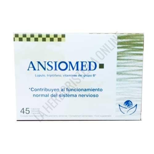 OFERTA - Ansiomed Bioserum 45 cápsulas - ¡¡OFERTA Nuevo envase de Ansiomed de Bioserum con 45 cápsulas al mismo precio (antes 40 cápsulas)!! Ansiomed está especialmente indicado para ayudar al organismo en casos de ansiedad, fatiga por estrés y estados irritativos.