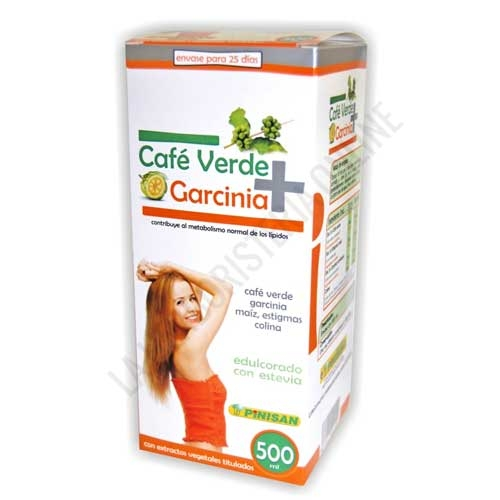 OUTLET Cafe Verde + Garcinia líquido Pinisan 500 ml.