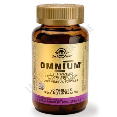 Omnium Multivitamínico Avanzado (vitaminas, minerales, fitonutrientes) Solgar 90 comprimidos