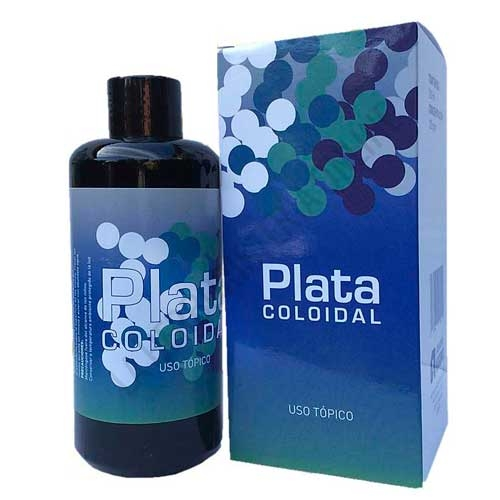 Plata Coloidal 120 ppm envase cristal opaco Argenol 200 ml.