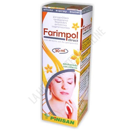 Farimpol direct spray garganta Pinisan 30 ml.