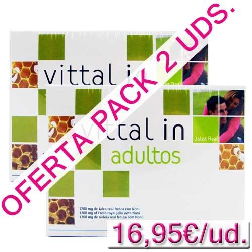 OFERTA 2 uds. Vittal in Jalea Real Adultos Plameca 20 ampollas