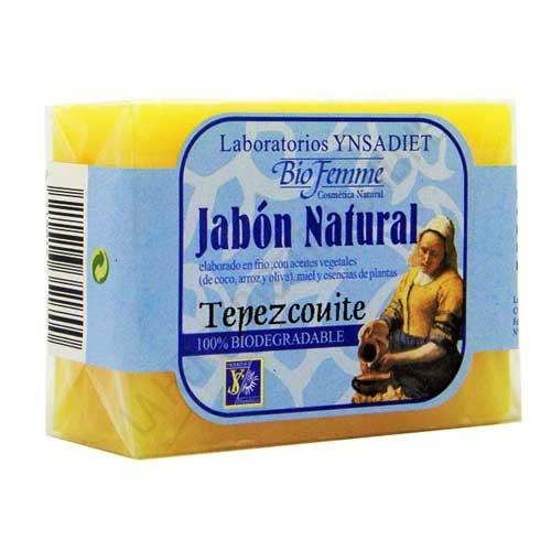 Jabón natural de Tepezcohuite Bifemme Ynsadiet 100 gr. - La pastilla de jabón natural de Tepezcohuite está especialmente indicada para la higiene corporal por sus propiedades regeneradoras de la piel.