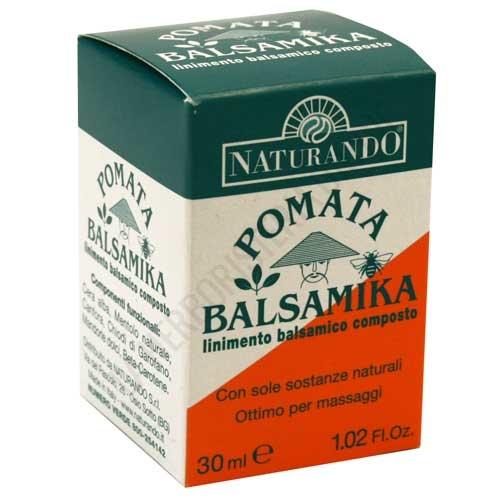 Pomada Balsamica Naturando 30 ml. - La pomada Balsamika de Naturando es una fórmula totalmente natural y de acción inmediata que ayuda a relajar la rigidez muscular, sin manchar ni provocar enrojecimiento. PRODUCTO DESCATALOGADO POR EL LABORATORIO FABRICANTE.