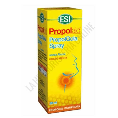 Propolgola Spray sin alcohol ESI 20 ml. - Propolgola Spray ESI sin alcohol contiene extracto seco de própolis que proporciona alivio y frescor en boca y garganta mediante su aplicación directa y agradable sabor a menta.
