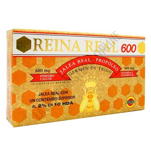 Reina Real 600 mg. Jalea Real Robis 20 ampollas