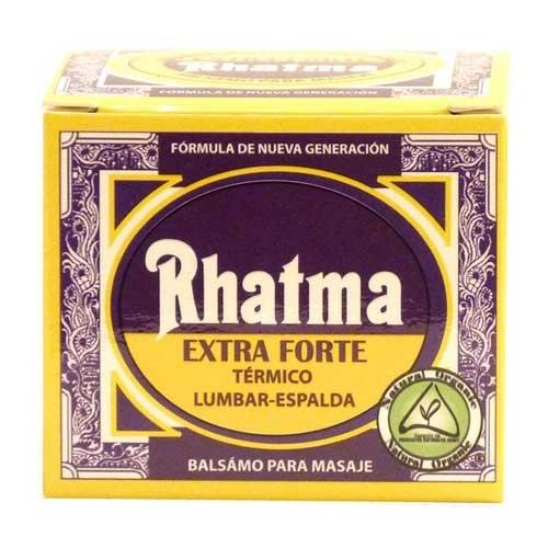 Ungüento Extrafuerte Lumbares Rhatma 50 ml. - El ungüento Rhatma Extra Forte es específico para ayudar a aliviar las molestias de la zona lumbar y espalda de manera inmediata, gracias a su acción vitalizante, activadora y térmica.