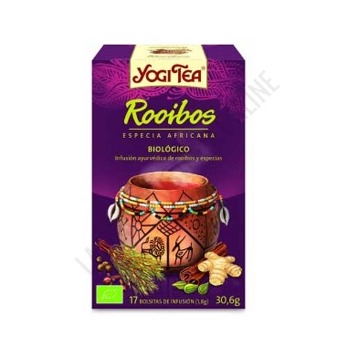 Infusión con Té Rooibos Yogi Tea 17 bolsitas