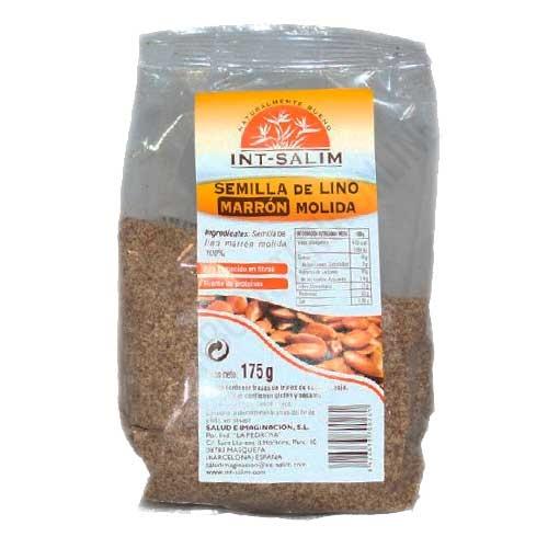 Semilla de Lino marrón molida Intsalim 175 gr. -