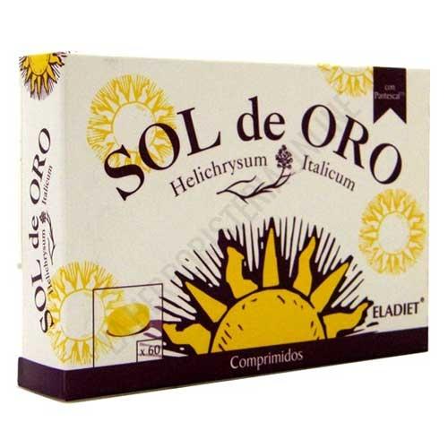 Sol de Oro Eladiet 60 comprimidos - Los comprimidos Sol de oro combinan la conocida acción del Helicriso ante manifestaciones alérgicas con el Grosellero negro y la Alcaparra, reforzando su efecto.