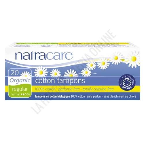 Tampones 100% algodón orgánico sin aplicador Natracare regular 20 uds. - Los tampones Natracare son 100% algodón, sin perfumes, no blanqueados con cloro. Envase de 20 uds. sin aplicador.