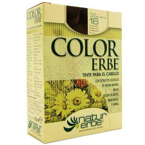 Tinte vegetal Color Erbe sin amoniaco - 16 ROJO VENECIANO