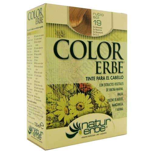 Tinte vegetal Color Erbe sin amoniaco - 19 RUBIO SOL
