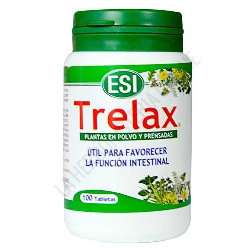 Trelax función intestinal Esi 100 comprimidos - Trelax de ESI es una mezcla de plantas pulverizadas y prensadas en comprimidos especialmente útil para favorecer la función intestinal.