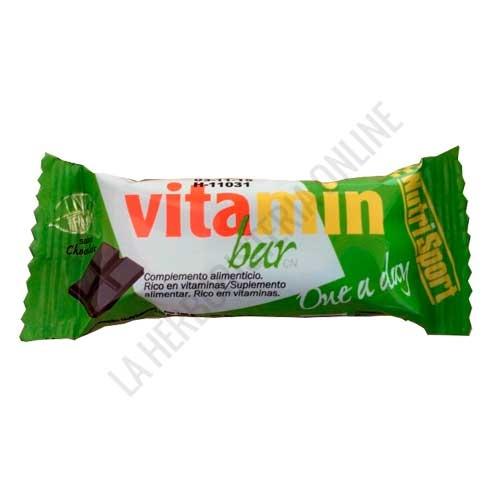 Barrita Vitamin Bar Nutrisport chocolate 30 gr. - Las Barritas Vitamin Bar de Nutrisport aportan a la dieta del deportista vitaminas fundamentales para el correcto desarrollo de la actividad física y los procesos de recuperación muscular.