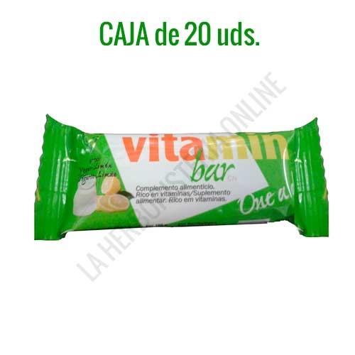 Caja de 20 barritas Vitamin Bar Nutrisport yogur limón 30 gr. - Las Barritas Vitamin Bar de Nutrisport aportan a la dieta del deportista vitaminas fundamentales para el correcto desarrollo de la actividad física y los procesos de recuperación muscular.