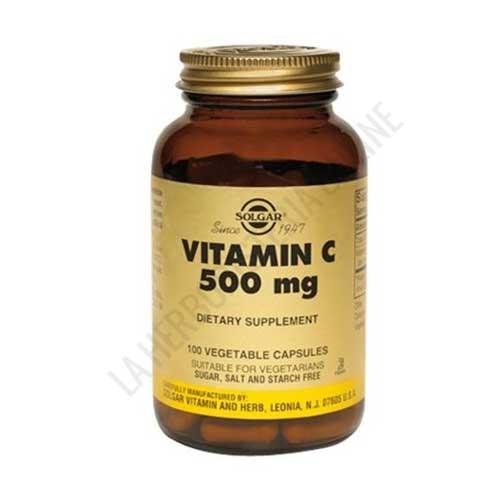 Vitamina C 500 mg. Solgar 100 cápsulas vegetales -