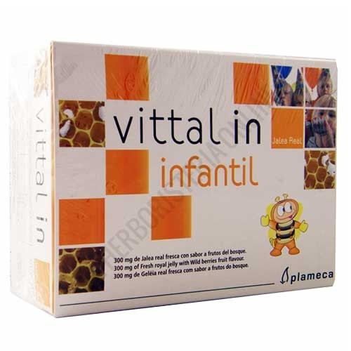 OFERTA Vittal in Jalea Real Infantil Plameca 20 ampollas