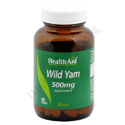 Ñame Silvestre (Wild Yam) Health Aid 60 comprimidos -