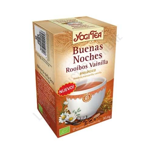 Infusión Buenas Noches Rooibos Vainilla Yogi Tea 17 bolsitas