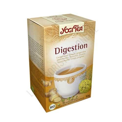 Infusión Digestión Yogi Tea 17 bolsitas - Yogi Tea Digestion se basa en una receta ayurvédica de hierbas y especias que favorece el proceso digestivo: hinojo, regaliz, hojas de menta, cardamomo, cilantro, jengibre y pimienta negra.