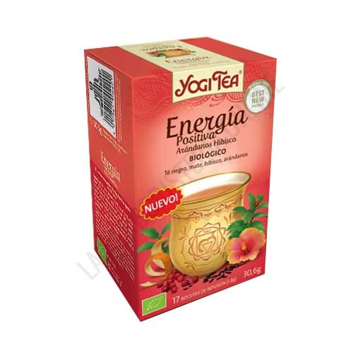 Infusión Energía Positiva Arándanos Hibisco Yogi Tea 17 bolsitas