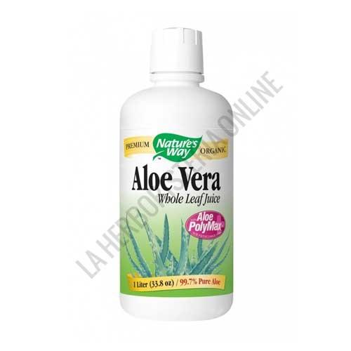 Zumo de Aloe Vera Polymax Biológico Natures Way 1 litro -